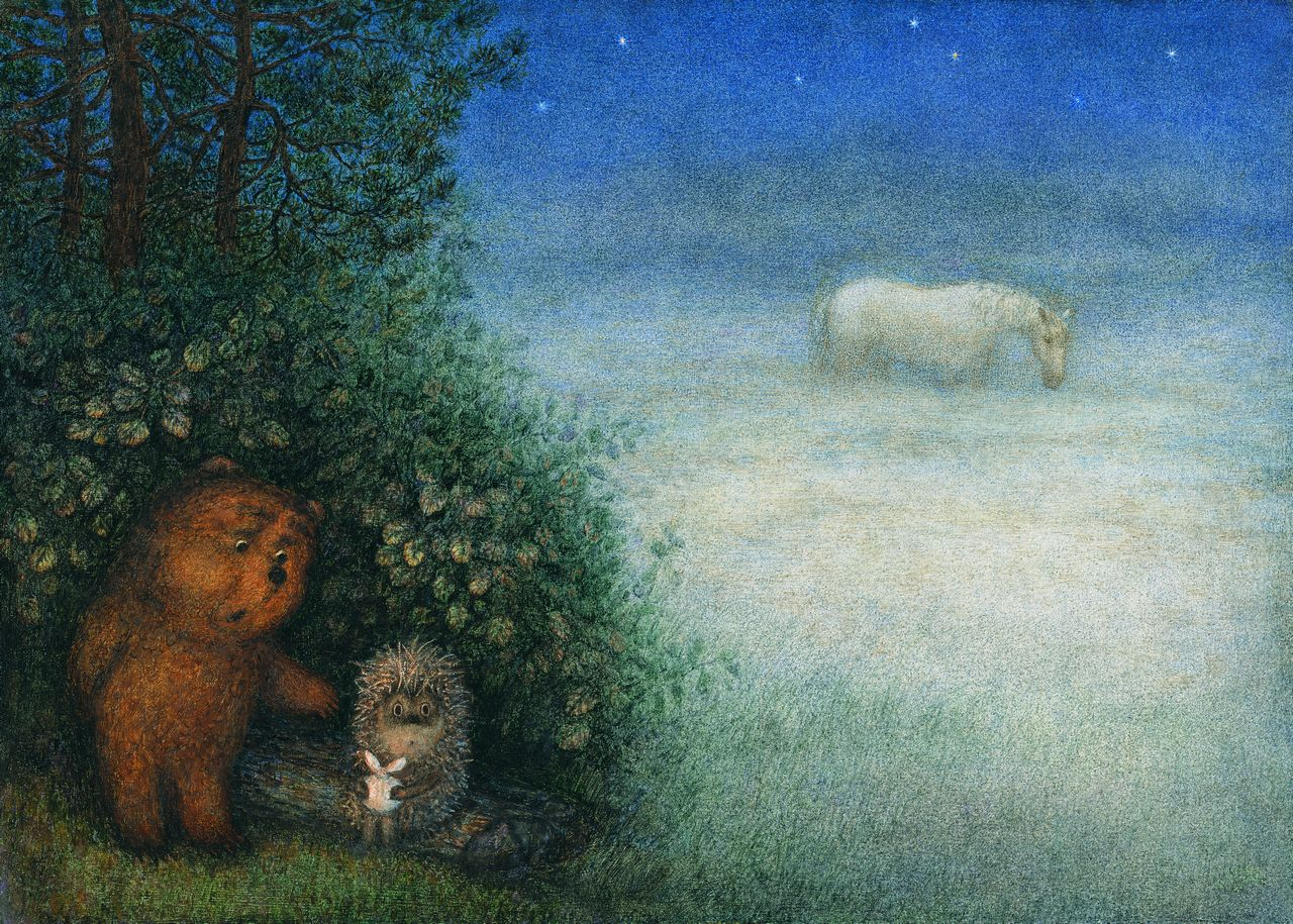 картинки с ежиками и медвежатами собой