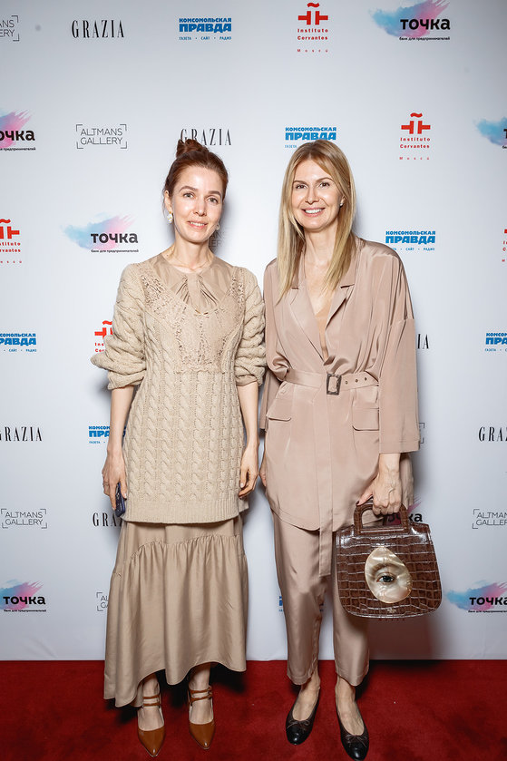 The designer Alena Akhmadullina and Kristina Altman