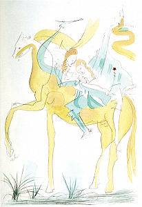 "Couple à Cheval  from ""Suite mythologique nouvelle"""