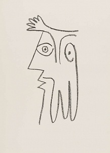 Picasso from 1916 to 1961. The half face