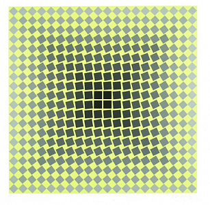 UNTITLED (Yellow, silver and black)