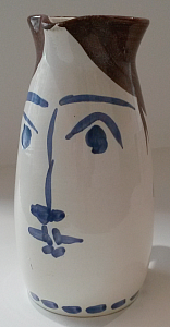Beer mug with a face